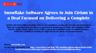 Snowflake Software Agrees to Join Cirium in a Deal Focused on Delivering a Complete