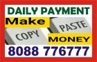 Daily payment job   copy paste work    Work from Home   1161  