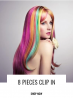 Colored Synthetic Hair Extensions