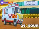 Low Booking Cost Medilift Ambulance Service in Ranchi