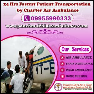 Get Prominent Air and Train Ambulance Service in Siliguri with Specialist Medical Support Team