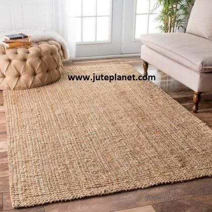 Hand knotted rectangular jute rugs manufacturer and exporter in USA