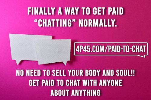 We offer a program where people Get PAID to Chat! Do you realize what a great business opportunity this can be?