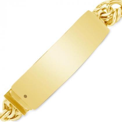 Gold chino link bracelet 14K by Exotic Diamonds