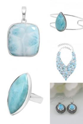 Shop Wholesale Sterling Silver Blue Larimar Jewelry