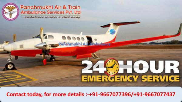 Use Modern Air Ambulance Service in Bathinda by Panchmukhi