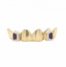 6 piece bottom grillz with fangs Exotic Diamonds
