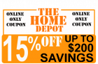 Home Depot Coupons – Get 15 to 20% Off