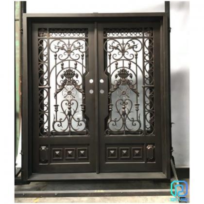 Custom-designed Wrought Iron Front Doors