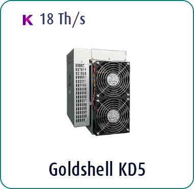 Goldshell KD5 18Th/s for sale