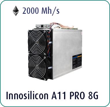 Innosilicon A11 Pro 2000 Mh/s Ethash Miner