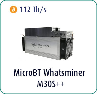 MicroBT Whatsminer M30S++ 112Th/s